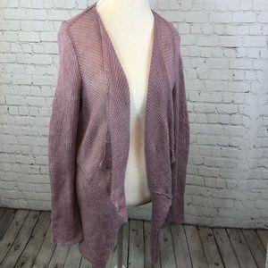 Eileen Fisher organic Italian yarn purple cardigan